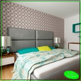 aplicação de papel de parede para quarto Centro