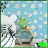 aplicação de papel de parede quarto de bebê Chácara do Rosário
