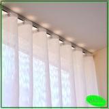 cortina de trilho para janela de cozinha