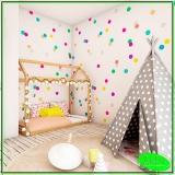 papel de parede quarto de bebê Jardim Viana