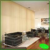 persianas verticais para escritório Vila União
